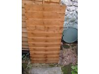Garden shed door unused wooden brown
