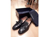 Men loafers (Scarosso / Duccio Nero / size 7 / 41). Very good state (only worn twice).