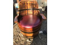 Oak Barrel Chair