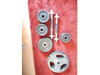 50kg dumbell York weights set