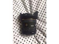 Sigma 10-20mm lens EF-S mount