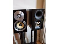 Bowers & Wilkins CM1 Speakers with stands