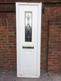 Composite fixed frame with chrome letter box (not a door)size 650 x 2080, £40.00