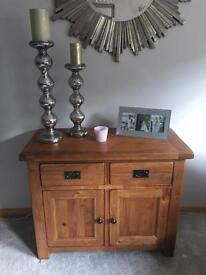 SOLID OAK SIDEBOARD CONSOLE TABLE