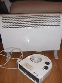 2kW convector heater and fan heater