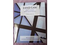 Land Law text, cases and materials: McFarlane et al. Latest edition (Second hand like new)