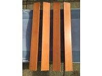 Stylish tapered hardwood table legs, solid wood with rubber feet, home DIY