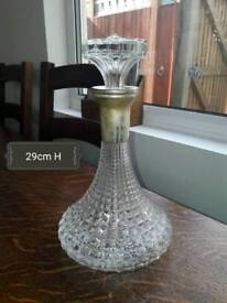 Large brandy decanter with sliver top