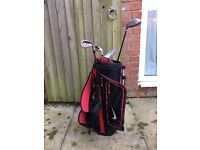 Nike children's golf clubs and bag
