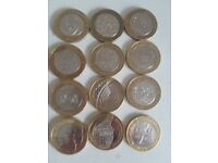 Rare collectable 50ps and £2 coins