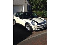 Mini Cooper, White, 1.6 petrol, 54 Plate, 1 years MOT, 86,616 miles, very good condition, Lady Owner