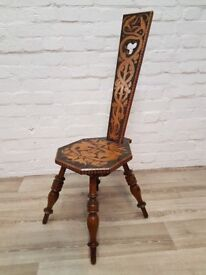 Antique Spinning Chair (DELIVERY AVAILABLE FOR THIS ITEM OF FURNITURE)