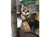 Chainsaw carvings (owl)