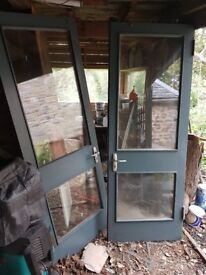 2 Wooden, Double Glazed french doors
