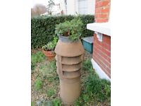 A vintage chinmey pot for use as a garden ornament/plant holder