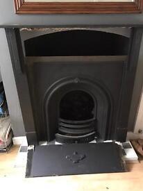 Victorian fireplace - slate surround