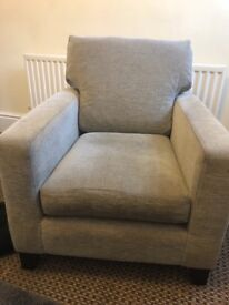 Two seater settee with matching chair