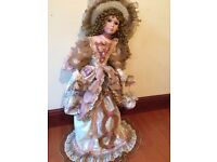 """Porcelain Doll LARGE 36"""" from The Knightsbridge Collection"""
