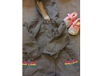 Next girls 3-6 month coat and shoes