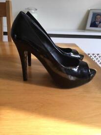 Peep Toe Platform Court Shoes