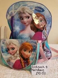 'Frozen' rucksack & handbag