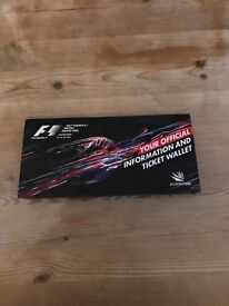 2 x tickets sat and Sun british GP roving seat sat and dedicated seat Sunday great seats at Village