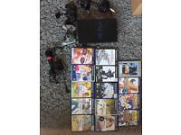 PS2 PlayStation 2 console with games