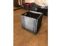 IKEA Wicker Storage Baskets Grey Black 5 Available