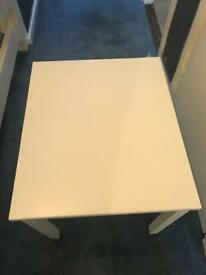 Children's painted white table