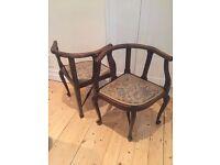 chair vintage antique x 2