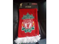 LIVERPOOL SCARF OFFICIAL NEW WITH TAGS