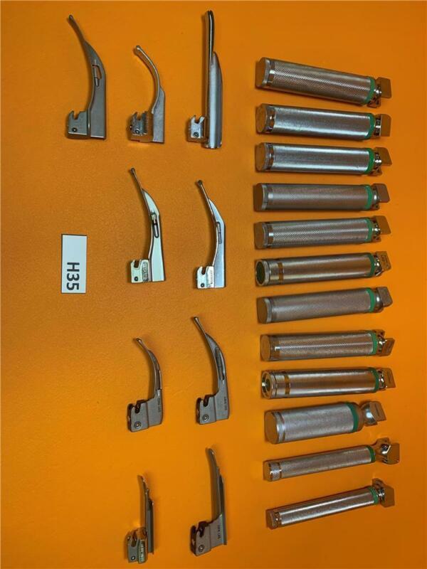 Lot of Fiber Optic Laryngoscope Handles and Blades