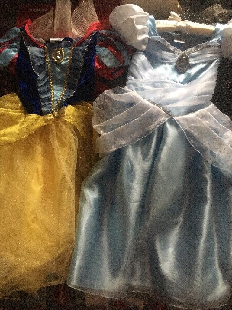 Snow White and Cinderella Disney store costumes