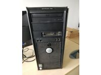 DELL PC CASE OPTIPLEX 740 WITH DVD ROM, PSU AND CABLES, FAN