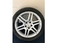 """Mercedes C Class W204 2007-2014 17"""" Genuine AMG Alloy Wheels + Tyres for sale  Holmes Chapel, Cheshire"""