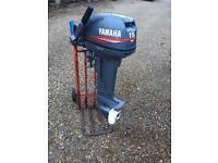 Outboard Yamaha 15 Hp BARGAIN 2 Stroke short shaft