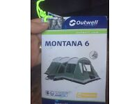 Outwell Montana 6 berth tent and front awning