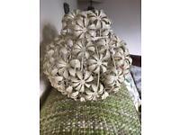 Metal flower lamp shade