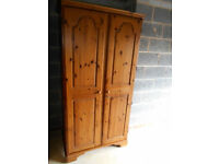 Ducal pine two door wardrobe. Can deliver