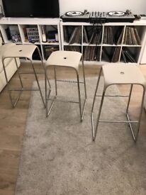 "BARGAIN: 6 HIGH BAR STOOL ""BOBO DESIGN"" WITH CROME LEGS, as NEW!"