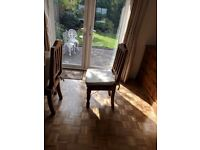 Rustic Wooden Dining Room Table and four chairs + cushions