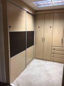 Ex- Display Bedroom Wood Effect Furniture Wardrobe, Sliding Doors, Corner Cupboard, Drawers Etc...