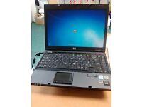 "HP COMPAQ 6510 LAPTOP .14.1"" ,CORE 2 DUO 2.10 GHZ PROCESSOR. MS OFFICE. WINDOWS 7"