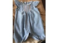 Girls Jean romper upto 1 month