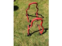 Motorcycle paddock stands front and rear universal