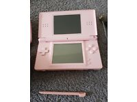 Nintendo DS Lite in Pink and 4 games