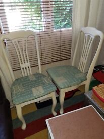 2 x Upholstered dining chairs