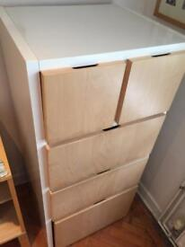 Ikea wooden filing cabinet in good condition