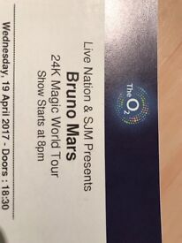 2 x Bruno mars tickets for 19th April at o2 arena
