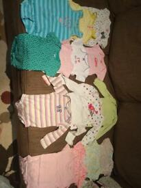 Lot 15 Girls 6 Month Onesies